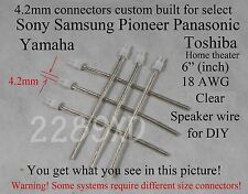 6 4.2mm speaker cable/wire connectors made for select Sony/Samsung HT;ReadnCheck