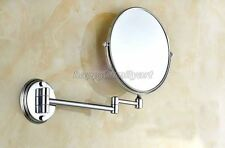 Wall Mounted Chrome Beauty Makeup Cosmetic Double-Sided Magnifying Mirror yba626