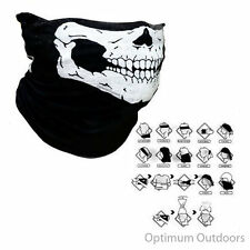 Skull Neck Gaitor Scarf Snood Ski Motor Bike Cycle Snowboarding Mask Neck Tube
