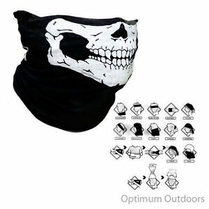 Skull Neck Gaitor Scarf Snood Ski Motor Bike Cycle Snowboarding Mask Neck Tube