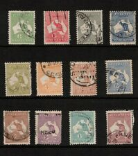 AUSTRALIA  SELECTION of KANGAROOS ½d TO 2/- USED VARIOUS WATERMARKS (7033)