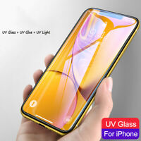 UV Tempered Glass For iPhone 7 8 Plus XS Full Liquid Glue Screen Protecor US RR