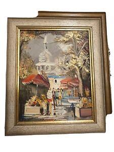1X Alte Ölmalerei Bild nicht Signiert Unbekannter Maler Jahr 1938
