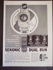 1962 Original vintage Ad SEKONIC 8mm Auto MOVIE CAMERA