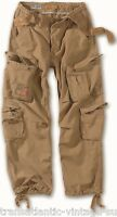 SURPLUS AIRBORNE COMBAT TROUSERS MENS ARMY VINTAGE CARGO WORK WEAR PANTS SAND