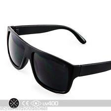Trendy Hipster Super Retro Flat Top Frame Sunglasses Matte Black Glasses