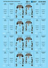Microscale Decals 1/48 Vought F4U Corsair Data Stencil Sets & Instruments # AC48