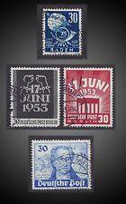 1949 1953 LOT USED UPU BADEN, GOETHE - SCT. 6N42,9N63,9N99-100