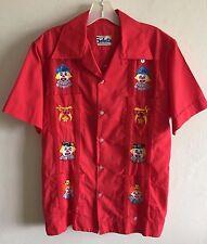 VTG  Cigar Shirt Beatriz Brenes de Pere SELECTOS Bordados Nicaragua Clowns S - M