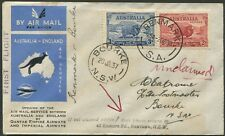 2 Oct.1936 (AAMC.632e) Renmark - Bourke cover, flown by Adelaide Airways Ltd.