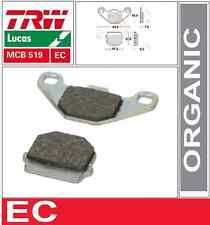 2 Plaquettes frein Avant TRW Organic MCB519EC Hyosung 50 Rush 05-07