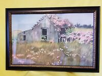 ORIGINAL WATERCOLOR  OLD BARN PAINTING SIGNED BY Gsell 1977-  15x22 INCHES