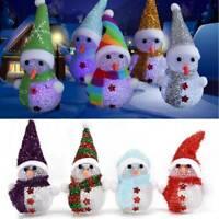 Christmas Decorations Color-Changing LED Light Snowman Ornament Xmas Decor Toys