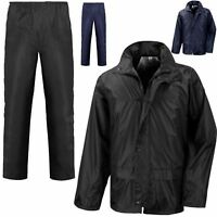 UNISEX WATERPROOF SUIT MENS COAT/LADIES JACKET & TROUSERS SET RAIN SHOWERPROOF