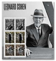 2019 Canada Leonard Cohen Pane Of 6 Stamps Several Denominations Music Montreal
