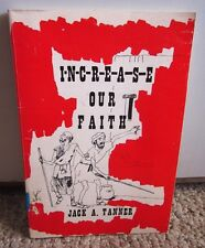 JACK TANNER Increase Our Faith essays book Pentecostal religion 1980 Law Sowing