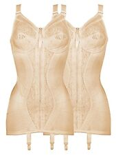 402a011d57 Naturana Pack of 2 Open Bottom Corselette With Front Zip 3011 Beige White  38 D