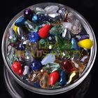 New 30pcs 12X8mm Faceted Teardrop Crystal Glass Spacer Loose Beads Random Mixed