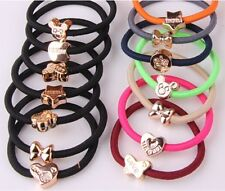 10pcs fashion bracelet rubber band hair ring elastic hair bands beautiful girl