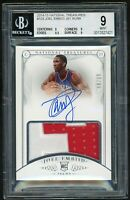 2014-15 National Treasures RC Auto 2 Color Patch Joel Embiid 65/99 BGS 9/10