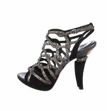 CHRISTIAN DIOR CARTAGENA Black Studded Sandal Heel Shoes 37 NIB $1260