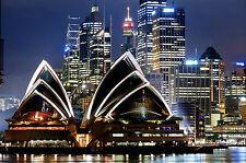 SPLENDIDA tela Sydney Skyline Cityscape #462 Muro per Appendere Foto Art A1