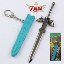 "The Legend of Zelda Sword & Scabbard 15cm/6"" Metal Pendant Key Ring New In Box"