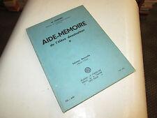 AIDE-MEMOIRE DE L'ELEVE DESSINATEUR.. NORBERT, M.