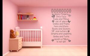 Girls playtime, personalised, Wall art vinyl decal sticker