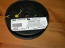 100' Carol Brand Yellow Hookup Wire 24 AWG C2015A.12.05