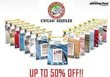 Organ Sewing Machine Needles (Full Range) + FREE Organ Needle Guide - 50% OFF!!