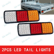 2x 75 LEDs 12V Tail Stop Trailer Combination Lamp Submersible Light Indicator
