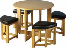 Pine Kitchen Modern Table & Chair Sets with 5 Pieces