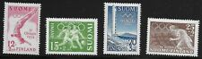 Finland Scott #B110-13, Singles 1951-52 Complete Set FVF MH