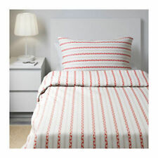 IKEA Parlhyacint Twin Duvet Cover Red and White for Single Twin Bed New Floral
