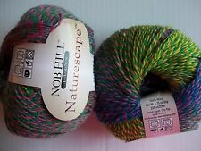 Nob Hill Naturescape 100% wool  yarn, Rainbow , lot of 2 (225 yds ea)