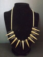 Necklace with Gold-Tone and Black Spikes