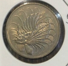 Offer>Singapore 50 cents 1974  Fish coin  lustre/high grade! ??