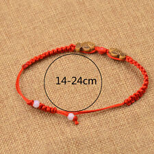 Gold Fish Red String Bracelet Rope Cuff Bangle Chinese Style Lucky Jewelry Gifts