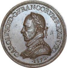 O5764 Rare Médaille Charles IX Saint-Barthélemy 1572 Baron Desnoyers SPL