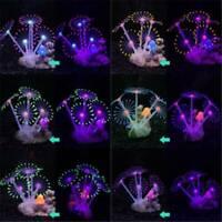 Aquarium Tank Glowing Plants Water Silicone Artificial Coral Decor Ornament Fish