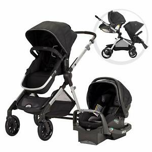 Evenflo Pivot Xpand Modular Travel System Stroller with SafeMax Infant Car Seat