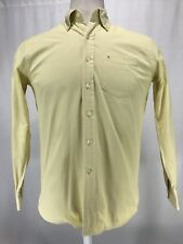Victorinox L/S Button Up 60's 2Ply 100% Cotton Yellow Shirt Men's Sz Small