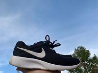 NIKE TANJUN Black Mesh White Logo Sneakers Athletic Shoes Sz 5 Youth ❤️sj17j12