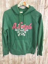 Women's jrs American Eagle green powder puff snowflake sweatshirt hoodie Sz M