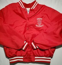 Vintage Indiana Univ. Hoosiers Swingster Satin Jacket Size XL Throwback Retro