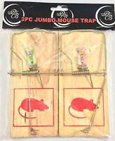 2pc Jumbo Snap Spring Mouse Rat Traps