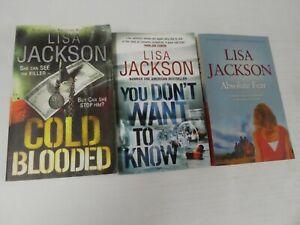Lot of 3 x  Lisa Jackson Books (Small Paperback) LHO4
