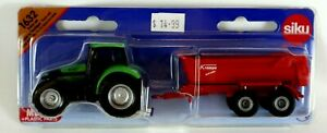 Super Tractor with Tipping Trailer Kids Farm Toy SIKU 1632 3+  PVC FREE