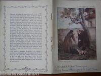 Vecchio quaderno scolastico di scuola epoca BURGO I PROMESSI SPOSI Don Abbondio